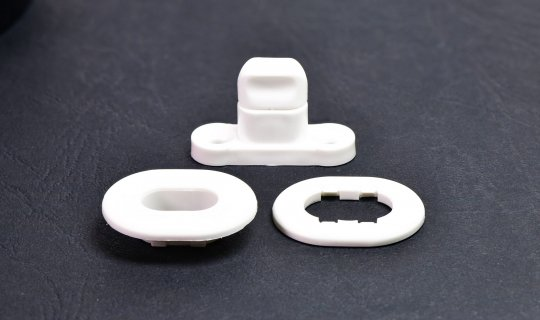 Nylon Turnbutton Set - White No.OSL4W