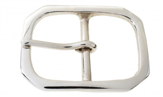 Nickel Plated Brass Belt Buckle No.G624N