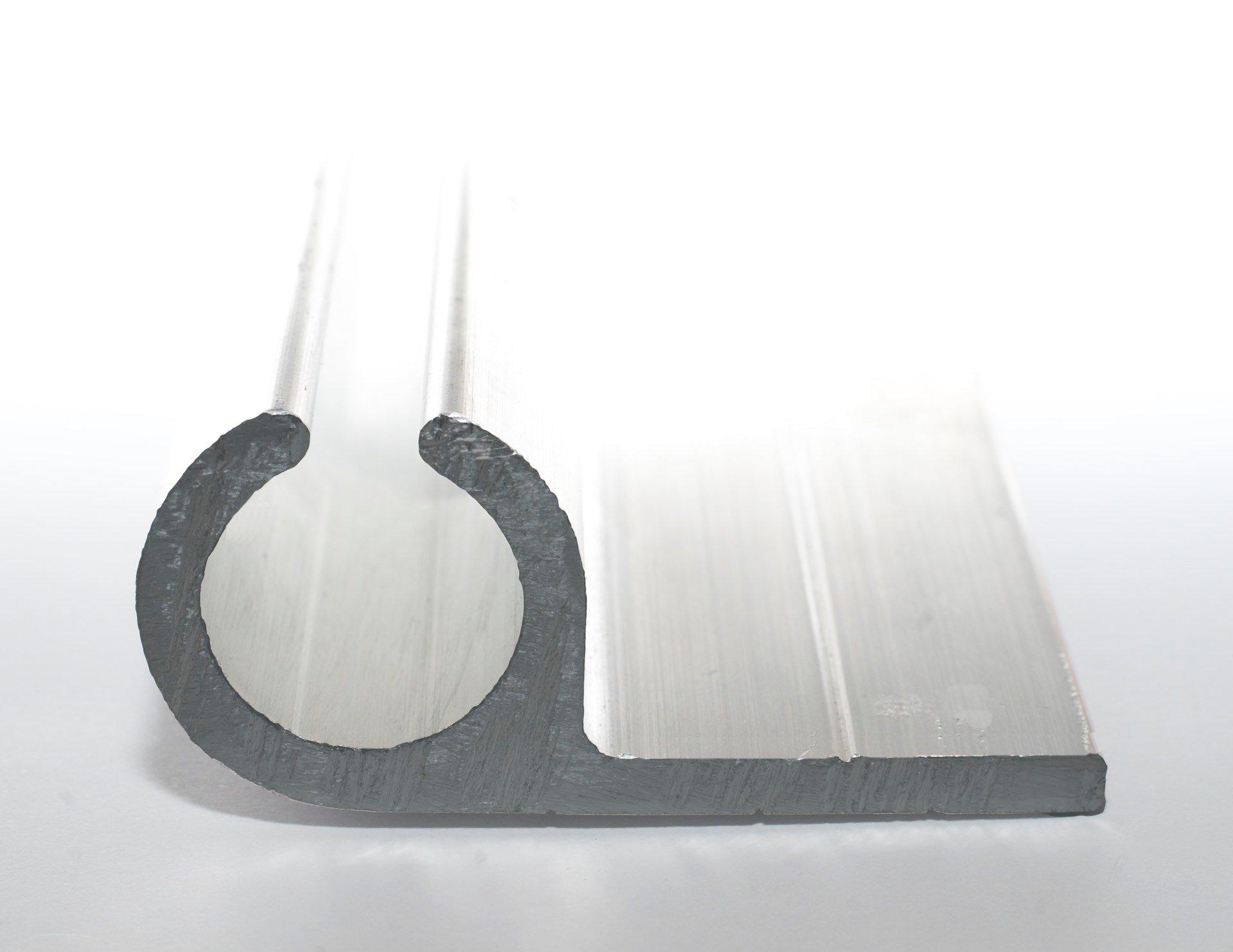 Aluminium Big P Section Keder Rail