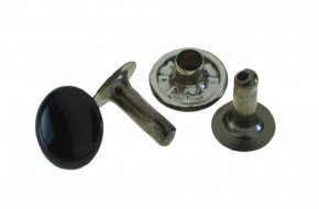 Rivet and Cap 10mm No.G105A-BK