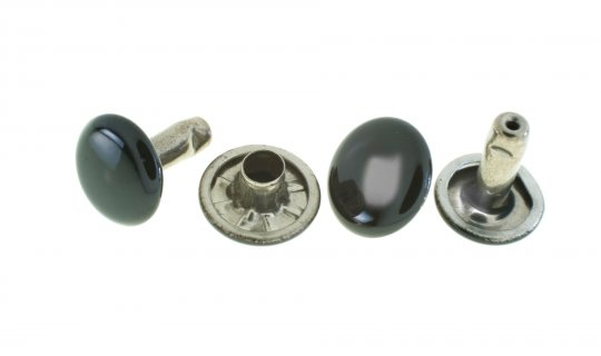 Double Domed Rivet and Cap - 10mm No.G105F-BK