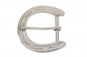 Nickel Plated Brass Belt Buckle No.G606N