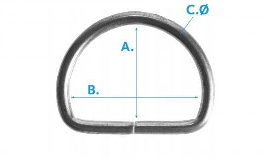 D-Ring-Open-G75-Nickel